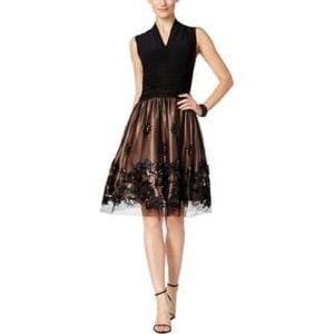 SL Fashion Party Dress Black/Gold